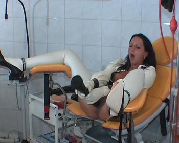 clinical gynchair rubberfist rubberhand latex
