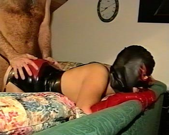 rubbermask fucking rubber latex cock