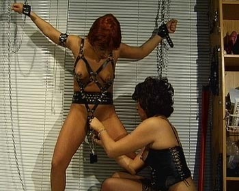 weights heavy clamps mask cunt pussylips lesbian bdsm