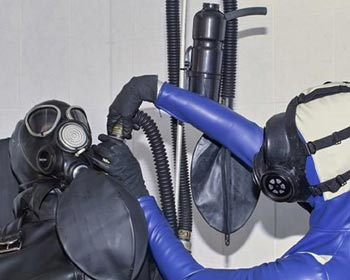 rubber treatment kitchen cunt pussy pee peeing