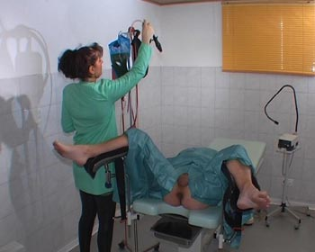 exam treatment enema on gyn gyno chair table