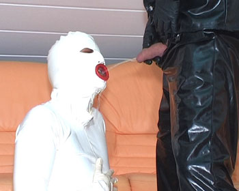 forced pee rubber white pissbag