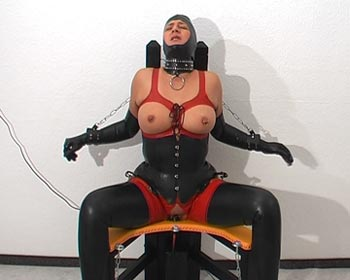 On the fucking chair fucked in rubber als a slave