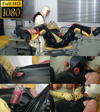 Painful horny needles while vacuum pumping