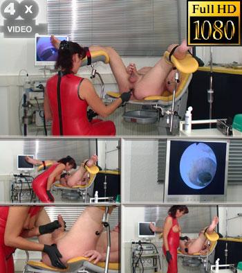 Very deep ass exam in horny rubber