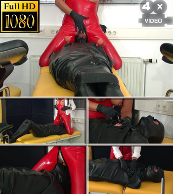 Totally enclosed in the rubber bodybag