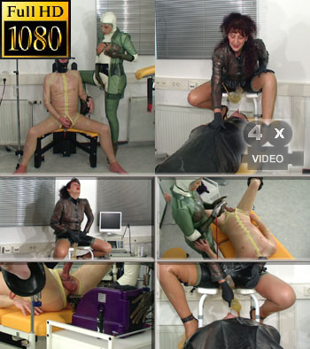 Hot pee the rubberslave needs treatment