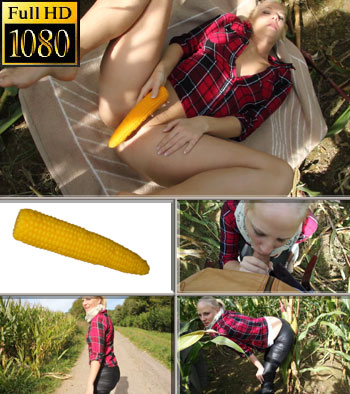 Corncob silicone dildo for Lara